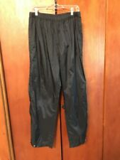 Men's Cabela's Outdoor Nylon Pants Black Size Large Camping Hiking Athletic Rain