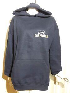Carpenter Hoodie Sweatshirt Size XL