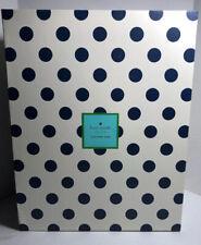 New Kate Spade Navy Polka Dot Exterior Green Interior Small Nesting Storage Box