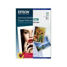 Original Epson Archival A3 192gsm Premium Matte Finish Inkjet Photo Paper - 50 S