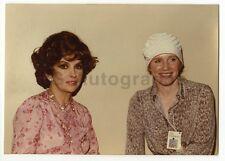 Gina Lollobrigida & Liv Ullman  - Vintage Candid by Peter Warrack Unpublished