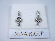 Earrings with Swarovski Crystals 0883 Nina Ricci Rhodium Plated Clip
