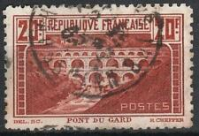"FRANCE STAMP TIMBRE 262B "" PONT DU GARD DENTELE 11 PERFORE C "" OBLITERE TB  M074"