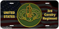 3rd Cavalry Regiment Novelty Car License Plate
