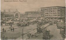 UNCOMMON VIEW, HISTORIC GANSEVOORT MARKET, WAGONS ALONG WEST STREET, NYC