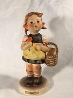 "Goebel Hummel Figurine TMK3 #98/0 ""Sister"" (Girl with Basket) 5.5"" Tall"