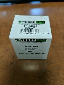 90340 Relay Trade Pro TP-90340 24VAC Coil 50/60 HZ A/C Air-Conditioning Fan NEW