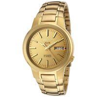 Seiko Men's SNKA10 Seiko 5 Automatic Gold Dial Gold-Tone Stainless Steel Watch
