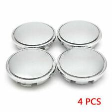 NEW 76mm Chrome Silver Car Wheel Center Hub Caps Covers No Logo Universal