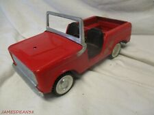 Vintage 1966-1970 Nylint Ford Fire Chief Red Bronco Truck Pressed Steel #7400