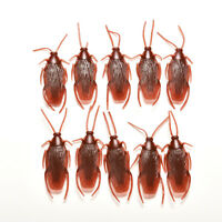10x Joke Cockroach Bug Funny Prank Novelty Life Like Fake Plastic Toy Trick T Pl