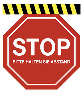 6er Set / STOP Bitte halten Sie Abstand – Fußbodenaufkleber / Corona Aufkleber