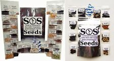 40 New Vegetable & Flower Seed Variety Packets Pack Garden Survival Food Kit Lot