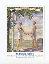 1933 3.Reich VDA Notopfer Farbkarte Staffellauf zur dt. Grenze, ungebraucht