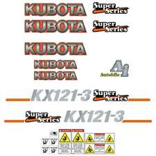 Kubota KX121-3 Decals Stickers Super Series, Kubota Repro Decal Kit
