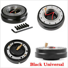Black Car Steering Wheel Quick Release Hub Adapter Snap Off Boss Kit Universal