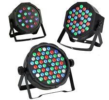 FARO PAR RGB 18-36-54 LED ALTA LUMINOSITA DMX512 STROBO WASH PROGRAMMABILE DISCO