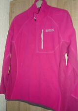 REGATTA,GREAT OUTDOORS,  PINK FLEECE, ZIP, POCKET,COLLAR, 12