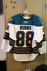 Authentic Brent Burns #88 San Jose Sharks Reebok White Jersey Size 58 Team Issue