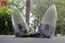 Cadillac Bullet Tail Light Lamp Assemblies Clear Lenses Red Bulbs Hot Rat Rod