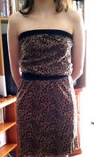 Retro Supre Leopard Print Dress Stretchy Animal Pattern Size XS Vintage 90s