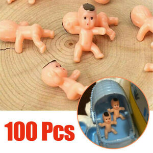 """100Pcs 1"""" Mini Plastic Baby Favor Supplies For Baby Shower and Ice Cube Game New"""
