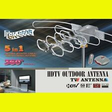 SUNKEY 5806 HDTV DIGITAL ROTOR AMPLIFIED OUTDOOR TV ANTENNA HD UHF VHF FM CABLE