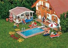 Faller 180542 H0 Swimming-Pool und Gartenhaus NEU OVP -
