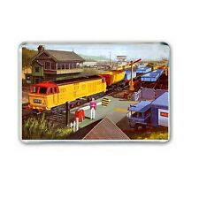 RETRO TRIANG - BIG BIG (HYMEK) TRAIN ARTWORK Fridge/ Locker Magnet