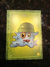 RARE PLANTS VS ZOMBIES STOP ZOMBIE MOUTH TRADING CARDS PUTRID POSSE CARD P.U. #4