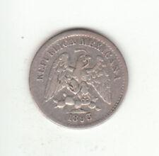1893 Mexico 5 Centavos (90.3% Silver) Coin VF