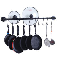 Wall Mount Pot And Pan Rack Hanger Hanging Kitchen Storage Hook Organizer Holder