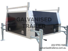 Alloy Ute Canopy With Four Jacks & Black Powder Coated Smooth Alloy Doors