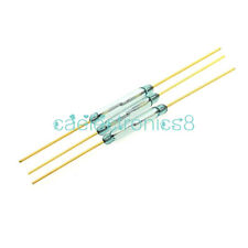 5PCS MKA-14103 2x14mm Gold Tone Leads Glass N/O SPST Reed Switches 10-15AT CA