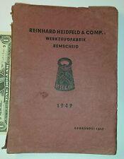 Vintage book catalogue RHEIDCO 1949 German rare tools hardware REINHARD HEIDFELD