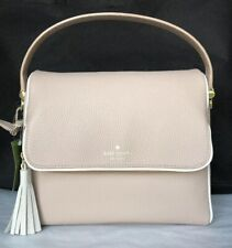 New Kate Spade Miri Chester Street Leather handbag Rose Cloud / Cement trim