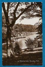 1937 RP PC WATERLOO LAKE, ROUNDHAY PARK, LEEDS, YORKSHIRE - LEEDS PUBLISHER