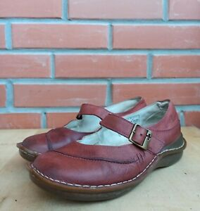 Dr Martens Ballet Flat Women 5 UK 7 US Boat shoes Mary Jane style Red Leather