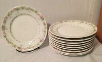Vintage Limoges Wm Guerin & Co Salad Plates Rose Floral Flowers Set Of 10
