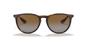 Ray Ban Erika Womens Mens Sunglasses Tortoise POLRISED Brown Gradient Lenses