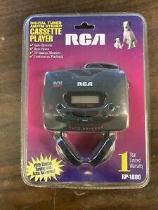 VINTAGE RCA RP-1880 PORTABLE DIGITAL AM/FM RADIO CASSETTE PLAYER WALKMAN NEW