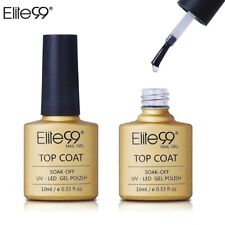 Elite99 10ml Long Lasting Soak Off UV LED Nail Gel Lacquer No Wipe Top Coat 1Pc