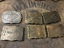 Jack Daniels Vintage Square Belt Buckle Collectors Set Of Six