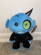 """12"""" BLUE ZOMBIE PLUSH STUFFED ANIMAL DOLL BLUE GREEN BLACK NICE PILLOW TOY BED"""