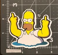 Homer Simpson The Simpsons Middle Finger Skateboard Guitar Laptop Decal/ sticker