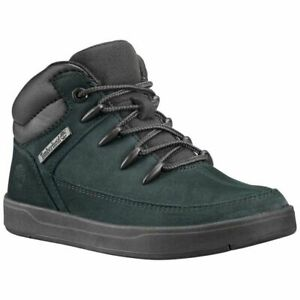 Boys Timberland  Black School Shoes Boots Size 5 UK Older Boys Black Nubuck