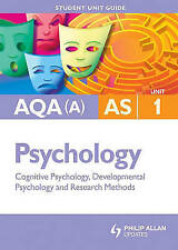 Very Good, AQA(A) AS Psychology Student Unit Guide: Unit 1 Cognitive Psychology,