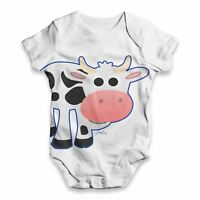 Twisted Envy Fat Cow Baby Unisex Funny ALL-OVER PRINT Baby Grow Bodysuit