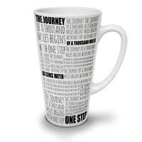 Journey Begins Slogan NEW White Tea Coffee Latte Mug 12 17 oz | Wellcoda