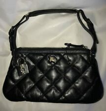 NEW BURBERRY QUILTED CLUTCH LEATHER BAG PURSE BLACK $750 Authentic MADE IN ITALY